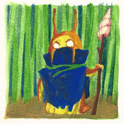 Snail Spirit Warrior by whatanonsense