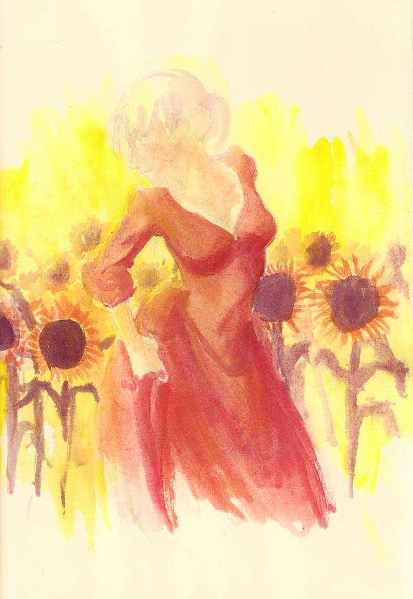 Sunflower girl by imabubble