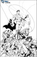 JLA Issue 3 variant by JonathanGlapion