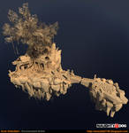 Floating Island (Naughty Dog Art Test) by amirabd2130
