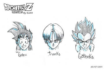 DBZ Goten and Trunks Sketch by E2A4