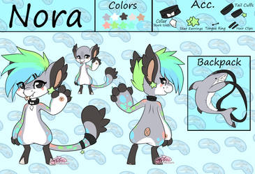 Nora the Bagbean Ref ::OC:: by PinkTabico