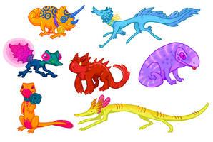 salamander concepts by Grim-Amentia