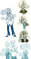 more sketches -emile by Grim-Amentia