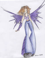 Random Purple Anthro Fairy by beca-chan