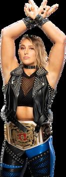 Rhea Ripley NXT UK Women's Champion 2018 Render by AmbriegnsAsylum16
