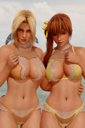 DOAX3 Helena and Kasumi by RadiantEld