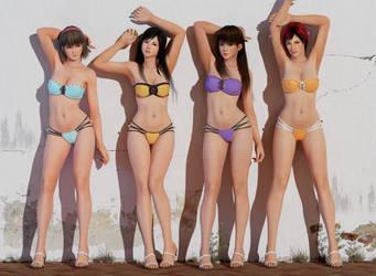 On Terracotta Bikini by RadiantEld