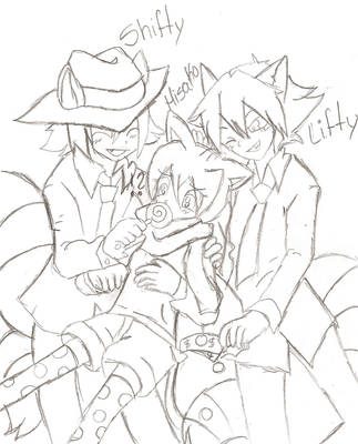 Shifty, Lifty And Hisako HTF by da-8598