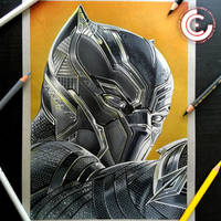 Black Panther by clarke-art