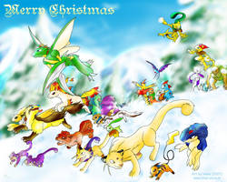 Pokemon Christmas fanart 2007 by Blue-Uncia