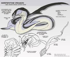 Serpentine dragon design by Blue-Uncia