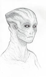HYPERSPACE Character research Female Alien 00 300p by Reddourufu