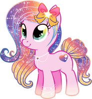 Star Glitter Mane Pony Adoptable CLOSED by KingPhantasya