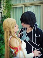 Kirito and Asuna by kokoammm