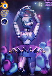 [FNaFSL] Ballora's Pack release! by JullyVIX