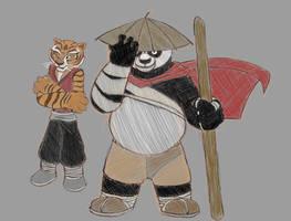 Po and Tigress by Runetirius