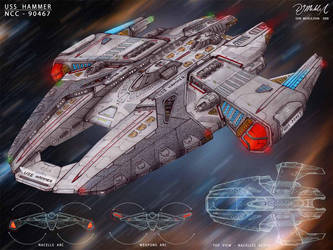 USS Hammer - sketch by DonMeiklejohn