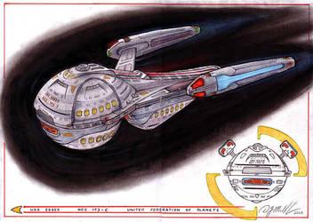 USS -Essex     NCC - 173 - C by DonMeiklejohn