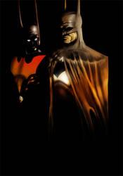 Batman + Batman Beyond by HawkStudios