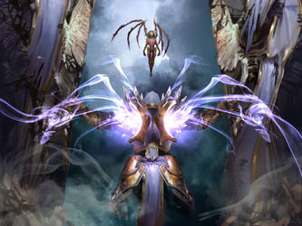 Tyrael  ARCHANGEL OF JUSTICE and KERRIGAN by Emiroth