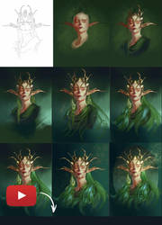 Forest Queen video process by Emiroth