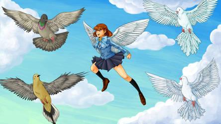 The girl who flew through time by Kiwi-Kamikaze
