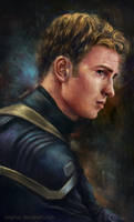Captain America Portrait by TinyTruc