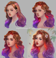 Ombre Hair Girl - Step by step by TinyTruc