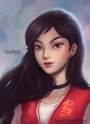 Casual Mulan fanart by TinyTruc