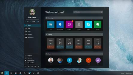 Windows Polaris Launcher Concept by enjoyfebruary