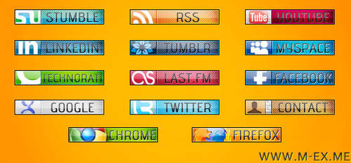 Social Media Bookmark Icons by s-f4ever
