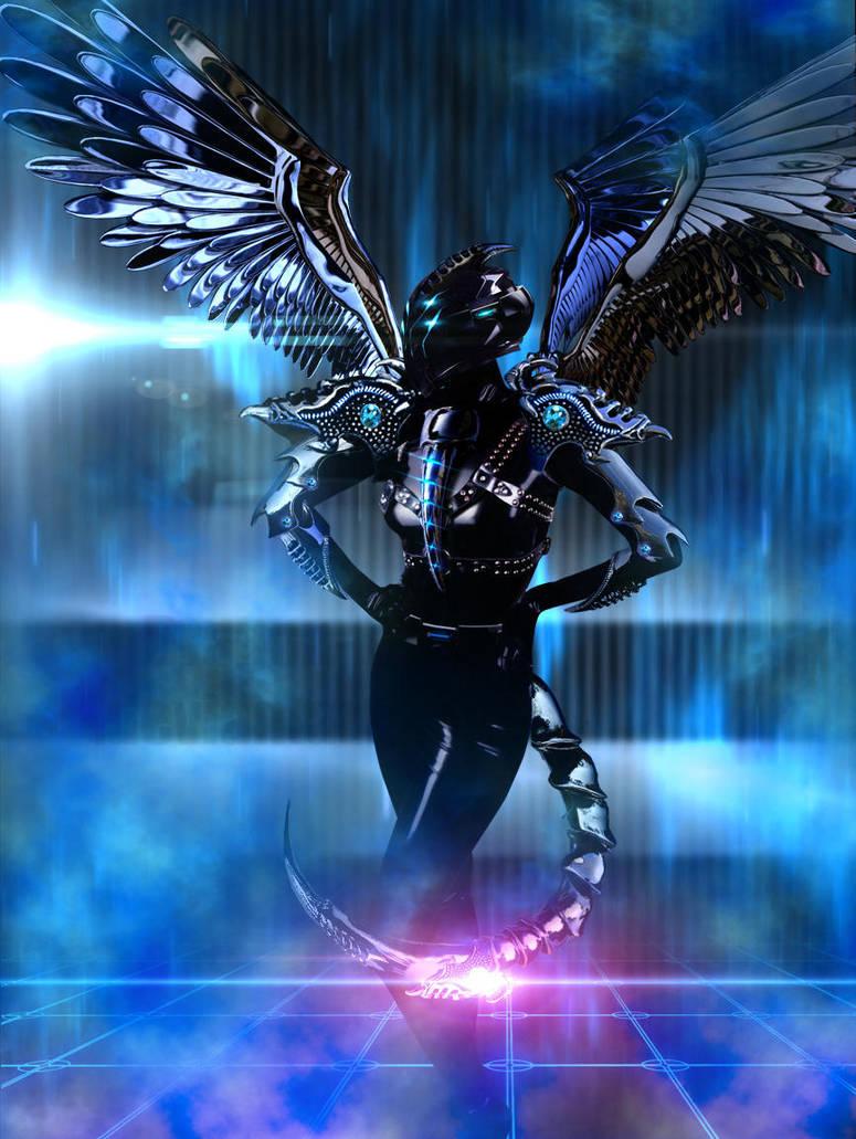 Platinum angel by Dragon-Kiss