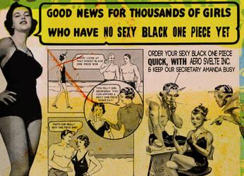 Sexy Black One Piece by fleetofgypsies