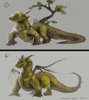 earth/nature dragon sketches by mrNepa