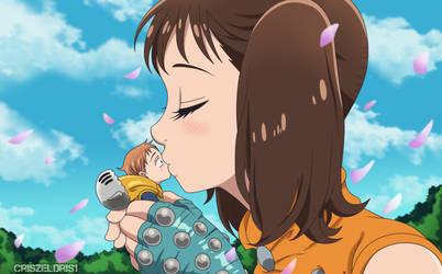 King x Diane Kiss Anime Style-Cap-215 by CrisZeldris1