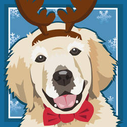 Puppy Winter Card - vector by elviraNL