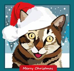 Christmas Kitty by elviraNL