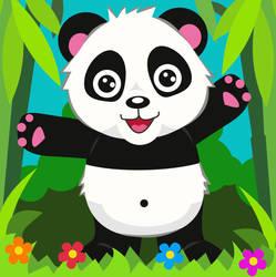 Panda Card by elviraNL