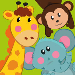 Animals Kids Card by elviraNL