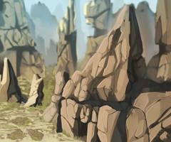 The orange maze[Arcanus concept art] by Velkss