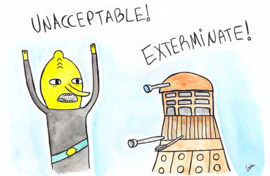 Lemongrass and a dalek by luartandcomics