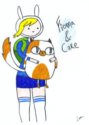 Fionna and Cake by luartandcomics