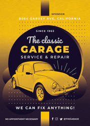 The Classic Garage - PSD Flyer Template by CIROdg