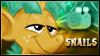 Snails Stamp by jewlecho