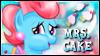 Mrs. Cake Stamp by jewlecho