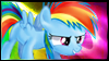 Rainbow Dash Filly Stamp by jewlecho