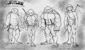 4 Turtles - Dawn of the Ninja by RayDillon