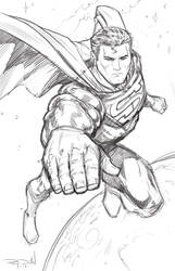 SUPERMAN: THE MAN OF STEEL - Warm-up sketch by RayDillon