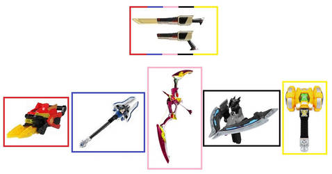 HyperForce Weapons by Greencosmos80